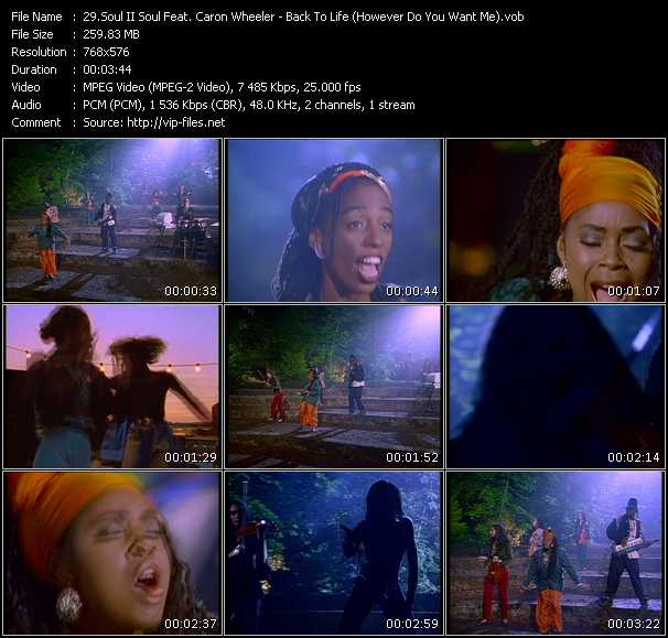 Soul II Soul Feat. Caron Wheeler - Back To Life (However Do You Want Me)