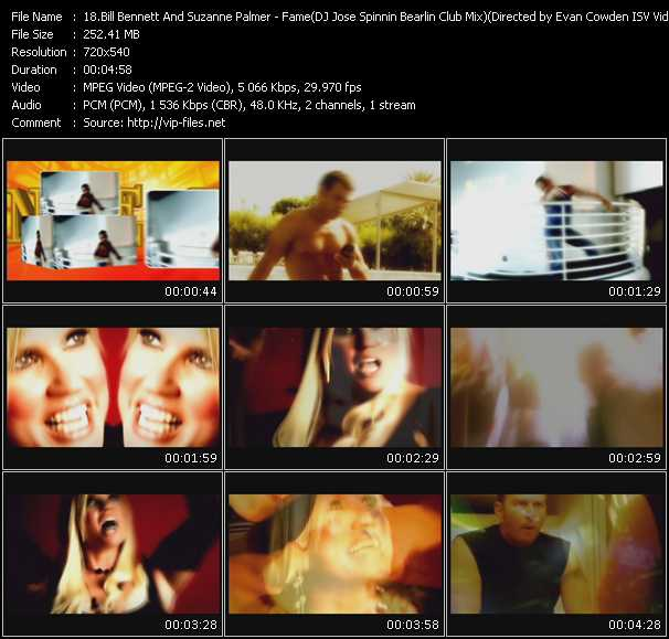 Bill Bennett And Suzanne Palmer - Fame (DJ Jose Spinnin Bearlin Club Mix) (Directed by Evan Cowden ISV Video Mix by Jorge And VJ Tarkan)