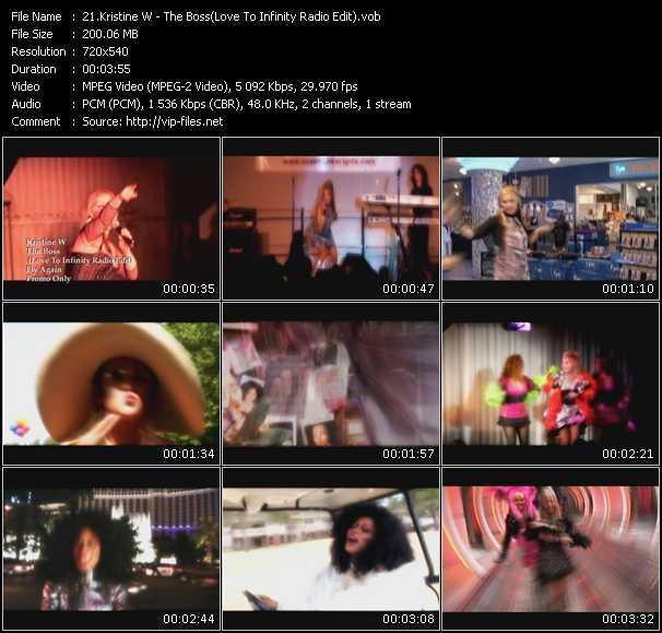 Kristine W - The Boss (Love To Infinity Radio Edit)