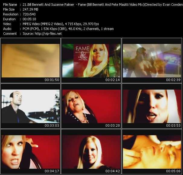Bill Bennett And Suzanne Palmer - Fame (Bill Bennett And Pete Masitti Video Mix) Directed by Evan Cowden