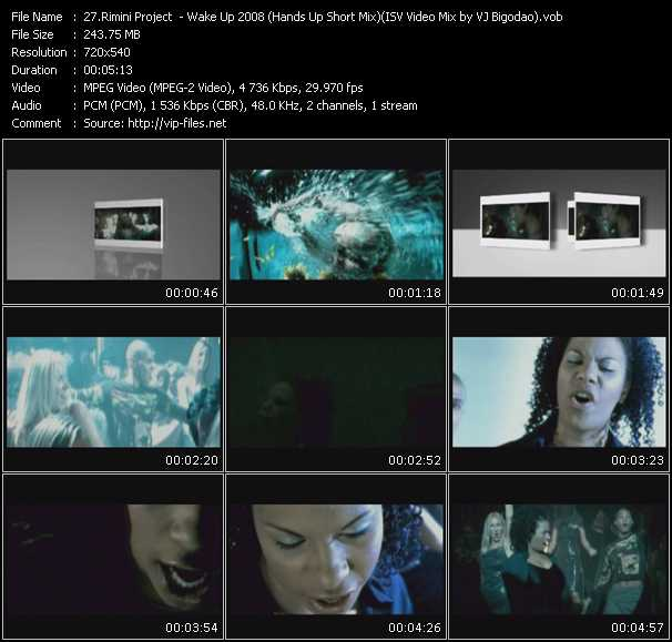 Rimini Project - Wake Up 2008 (Hands Up Short Mix) ISV Video Mix by VJ Bigodao