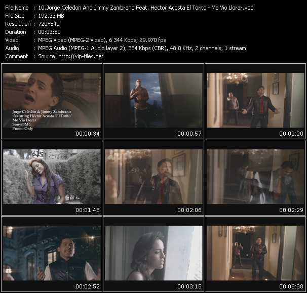 Jorge Celedon And Jimmy Zambrano Feat. Hector Acosta El Torito - Me Vio Llorar