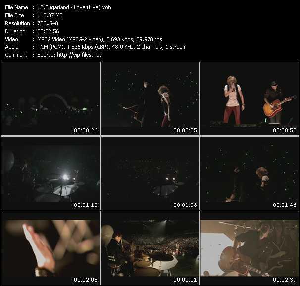 Sugarland - Love (Live)