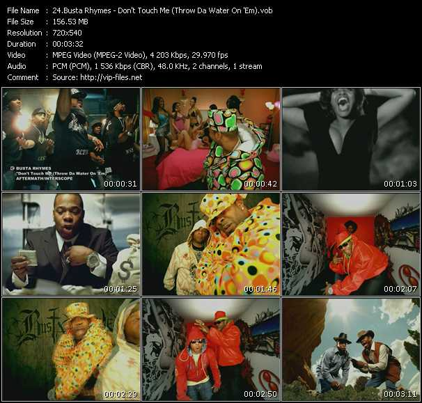 Busta Rhymes - Don't Touch Me (Throw Da Water On 'Em)