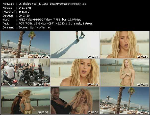 Shakira Feat. El Cata - Loca (Freemasons Remix)