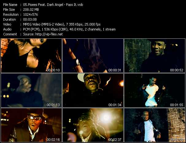 Pisees Feat. Dark Angel - Pass It