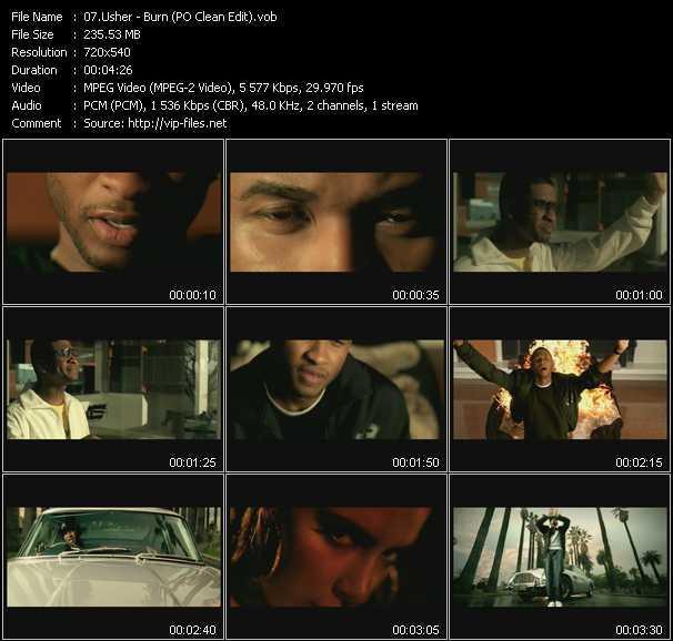 Usher - Burn (PO Clean Edit)