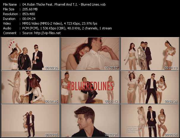 Robin Thicke Feat. Pharrell Williams And T.I. - Blurred Lines
