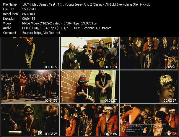 Trinidad James Feat. T.I., Young Jeezy And 2 Chainz - All Gold Everything (Remix)