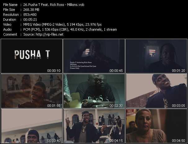 Pusha T Feat. Rick Ross - Millions
