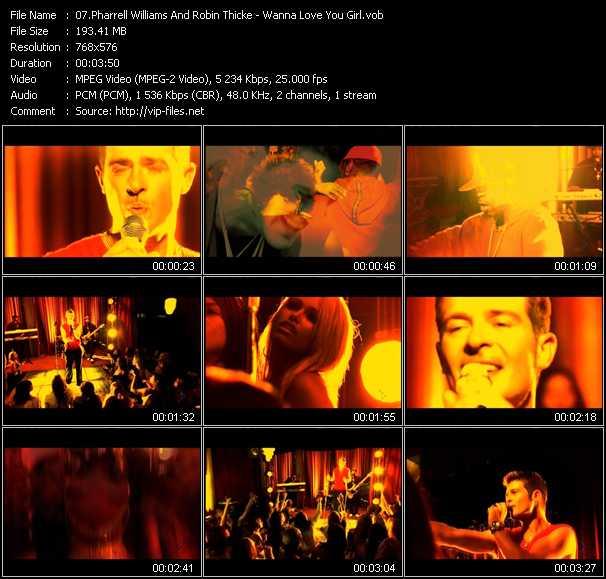 Pharrell Williams And Robin Thicke - Wanna Love You Girl