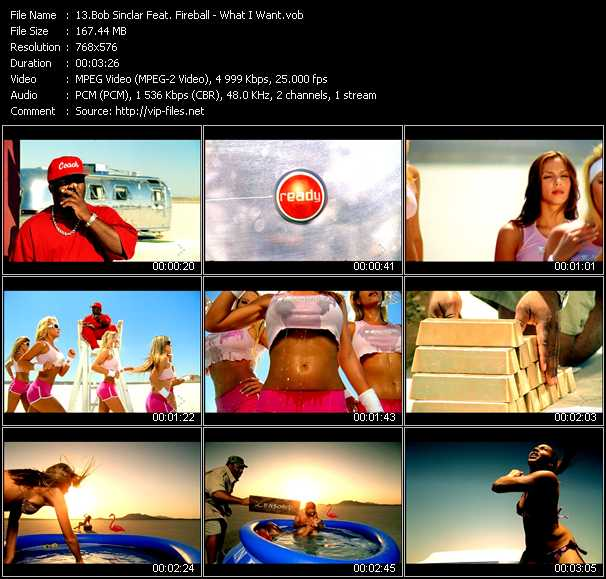 Bob Sinclar Feat. Fireball - What I Want