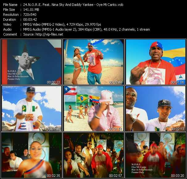 N.O.R.E. Feat. Nina Sky And Daddy Yankee - Oye Mi Canto