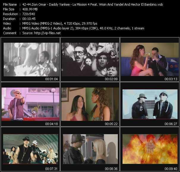Don Omar - Daddy Yankee - La Mission 4 Feat. Wisin And Yandel, Tony Dize And Hector El Bambino - Reggaeton Latino - Paso Lo Que Paso - El Booty-Todo Empezo-Tu Quieres Duro