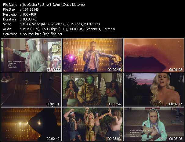 Kesha Feat. Will.I.Am - Crazy Kids
