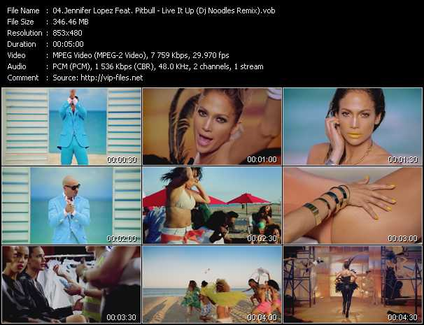 Jennifer Lopez Feat. Pitbull - Live It Up (Dj Noodles Remix)