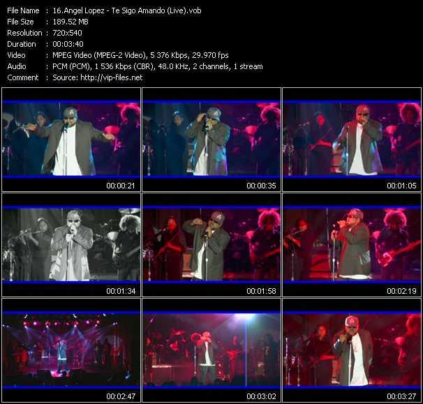 Angel Lopez - Te Sigo Amando (Live)