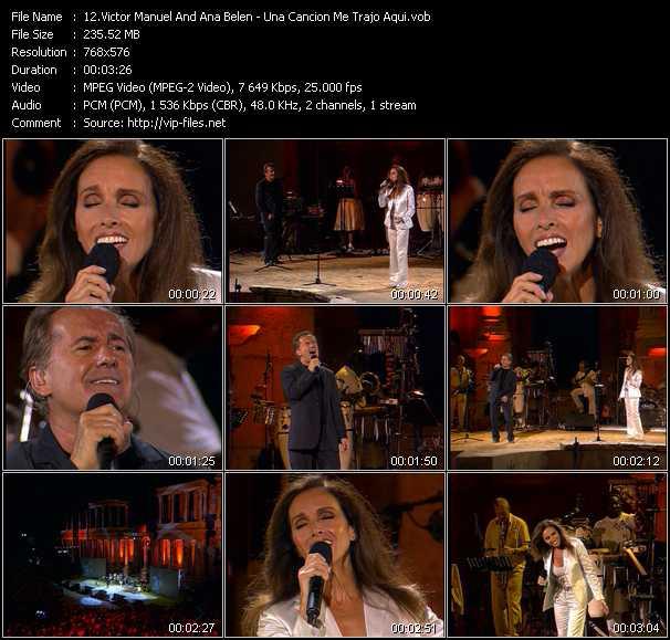 Victor Manuel And Ana Belen - Una Cancion Me Trajo Aqui