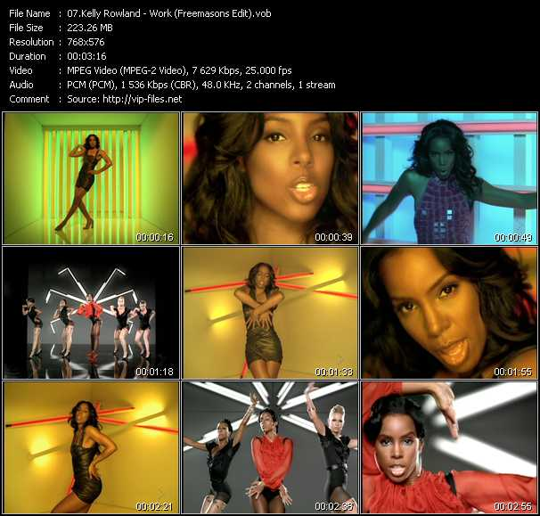 Kelly Rowland - Work (Freemasons Edit)