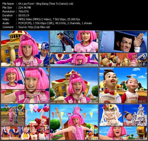 LazyTown - Bing Bang (Time To Dance)