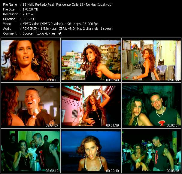 Nelly Furtado Feat. Residente Calle 13 - No Hay Igual