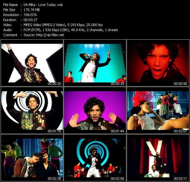 screenschot of Mika video