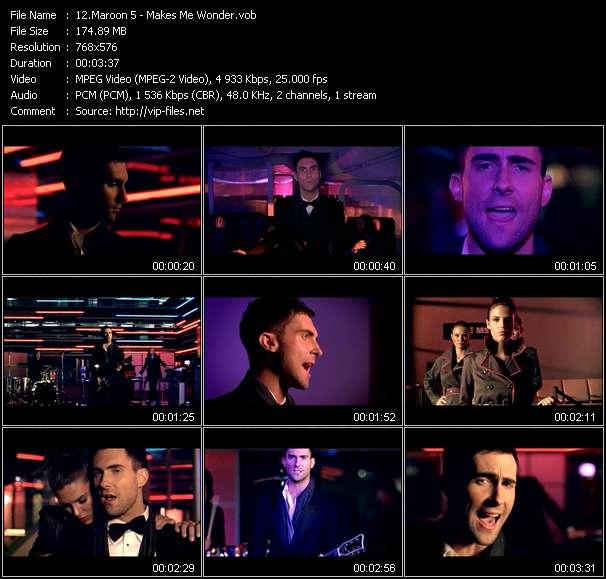 screenschot of Maroon 5 video