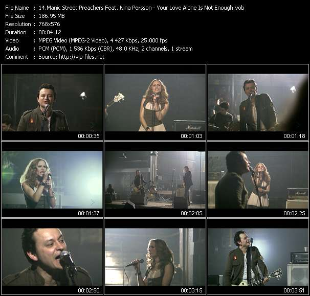 Manic Street Preachers Feat. Nina Persson video Your Love Alone Is Not Enough