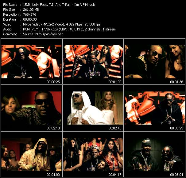 R. Kelly Feat. T.I. And T-Pain video I'm A Flirt