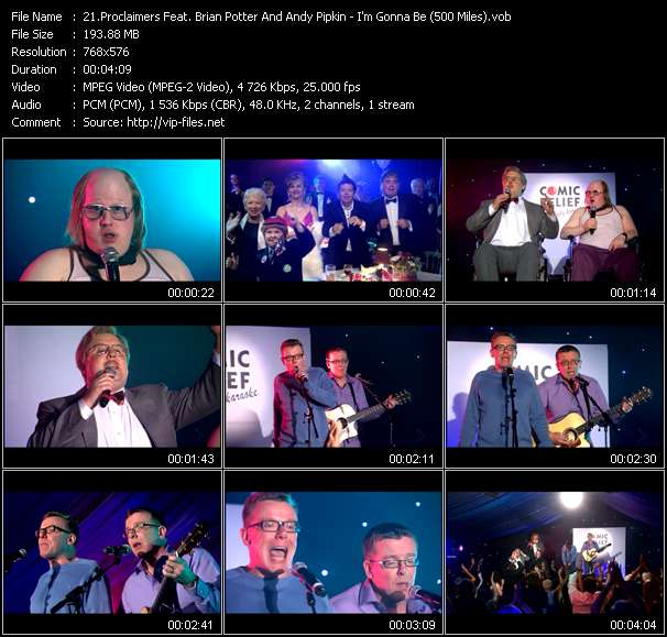 screenschot of Proclaimers Feat. Brian Potter And Andy Pipkin video