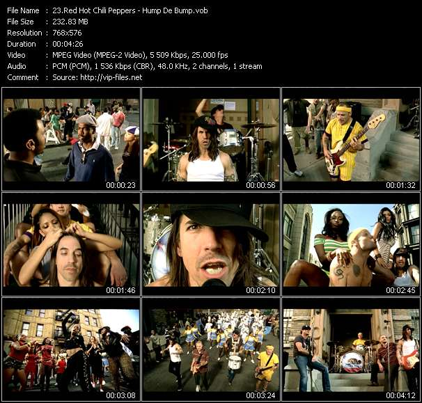 Red Hot Chili Peppers video Hump De Bump
