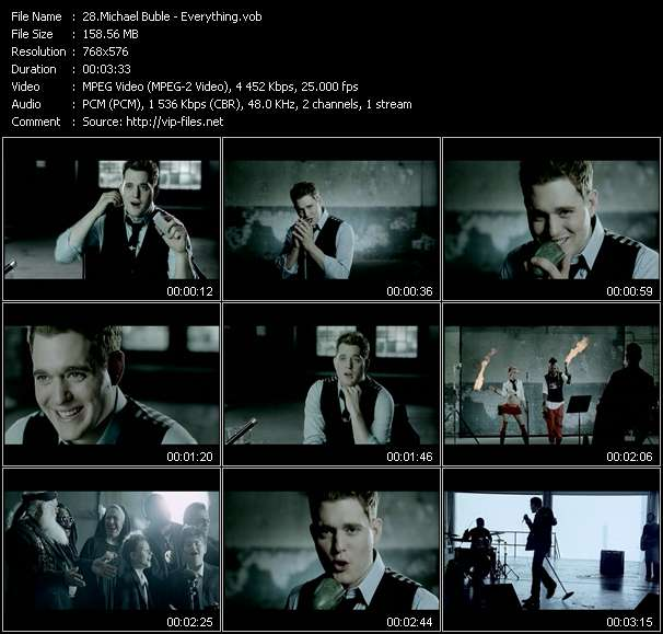 Michael Buble video Everything