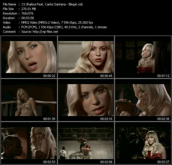 Shakira Feat. Carlos Santana - Illegal