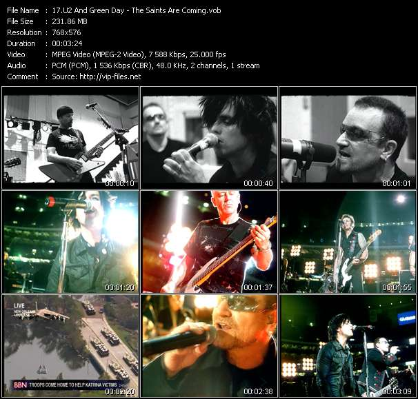 U2 And Green Day - The Saints Are Coming