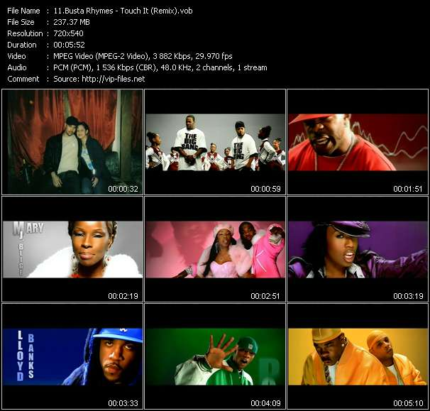 Busta Rhymes Feat. Mary J. Blige, Missy Elliot, Rah Digga, Dmx, Lloyd Banks And Papoose - Touch It (Remix)