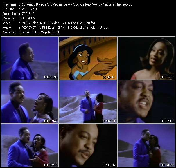 Peabo Bryson And Regina Belle - A Whole New World (Aladdin's Theme)