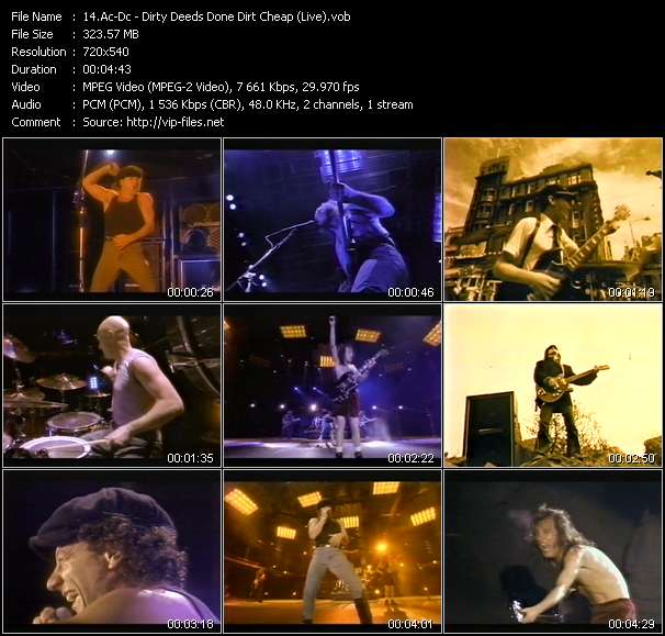 Ac-Dc - Dirty Deeds Done Dirt Cheap (Live)