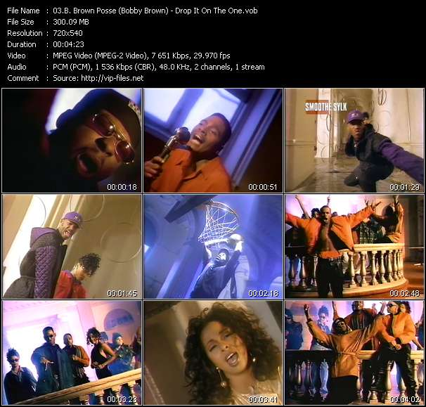 B. Brown Posse (Bobby Brown) - Drop It On The One