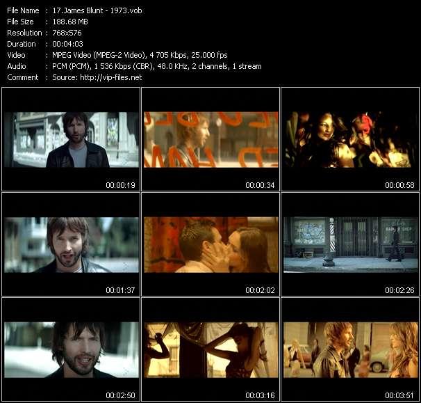 screenschot of James Blunt video