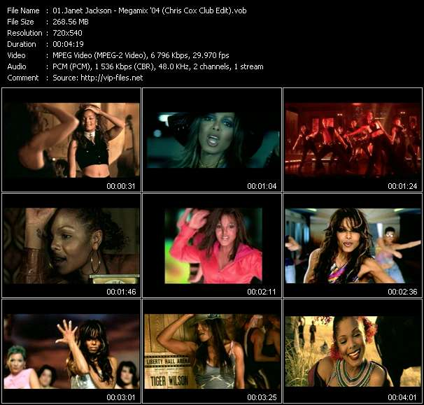 Janet Jackson - Megamix '04 (Chris Cox Club Edit)