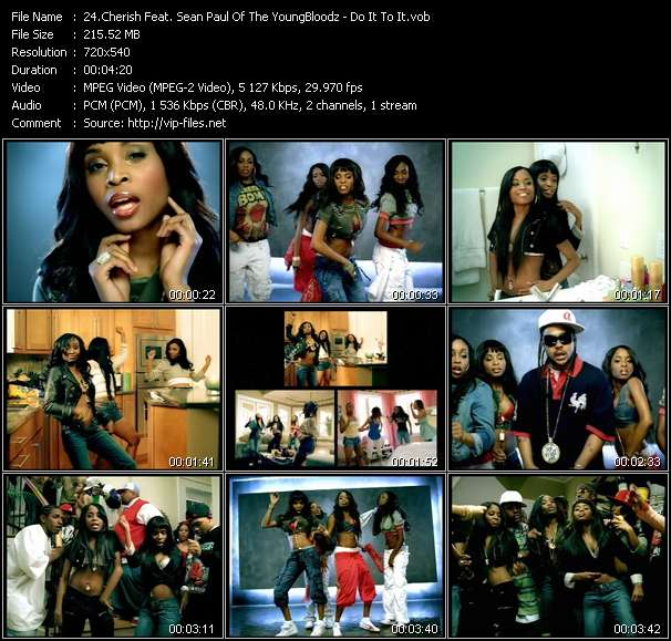 Cherish Feat. Sean Paul Of The YoungBloodz - Do It To It