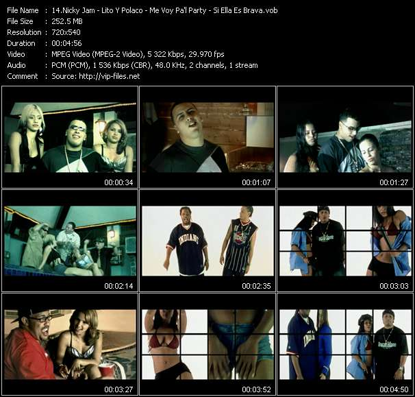 """Nicky Jam - Lito Y Polaco - Me Voy Pa'l Party - Si Ella Es Brava (From """"La Conspiracion 2 - La Secuela"""")"""