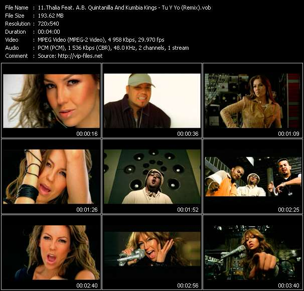 Thalia Feat. A.B. Quintanilla And Kumbia Kings - Tu Y Yo (Remix)