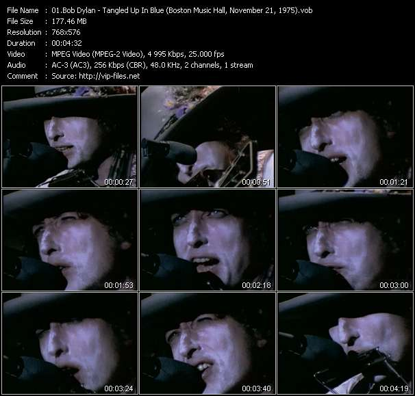 """Bob Dylan - Tangled Up In Blue (From """"Renaldo And Clara"""" Film) (Boston Music Hall, November 21, 1975)"""