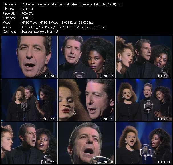 Leonard Cohen - Take This Waltz (Paris Version) (TVE Video 1988)