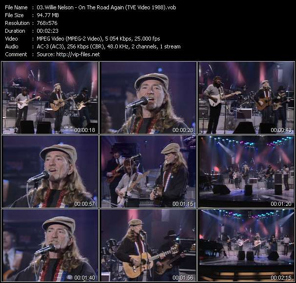 Willie Nelson - On The Road Again (TVE Video 1988)