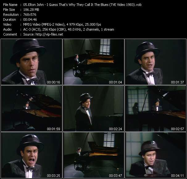 Elton John - I Guess That's Why They Call It The Blues (TVE Video 1983)