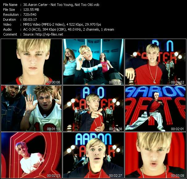 Aaron Carter - Not Too Young, Not Too Old