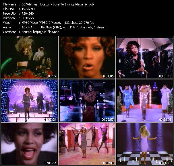 Whitney Houston - Love To Infinity Megamix