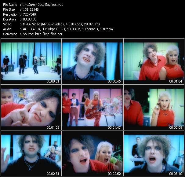 Cure - Just Say Yes
